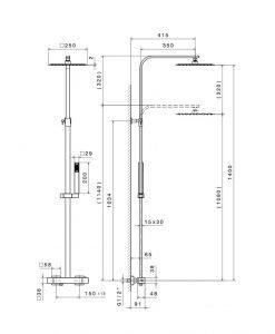 Термостатна душ система NEWFORM ERGO-Q 61158 21.018