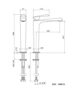 Висок смесител за мивка NEWFORM NIO 68915 21.018