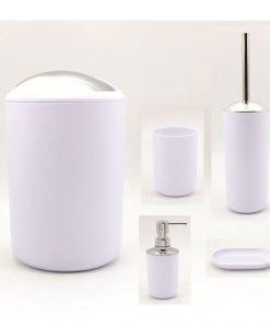 Комплект аксесоари за баня в бяло ICA 8328W