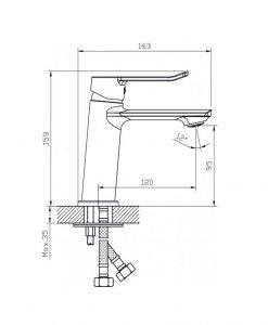 Комплект смесители за баня серия Рубия