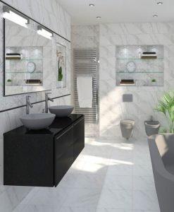 Плочки за баня SUPER CERAMICA модел EDEN WHITE 25*80