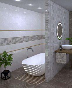 Плочки за баня SUPER CERAMICA модел LUXURY BROWN BRILLO 25*80