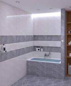 Плочки за баня SUPER CERAMICA модел LUXURY GREY BRILLO 25*80