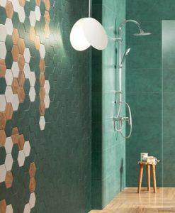 Плочки за баня TUBADZIN модел BURANO GREEN 30.8*60.8