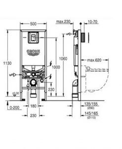 Структура за вграждане 39596000 GROHE RAPID SLX