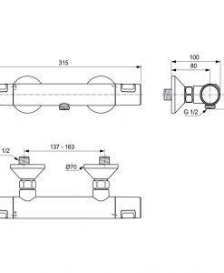 Термостатен смесител CERATHERM T25 A7201