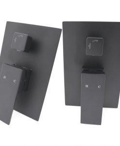 Черна душ система за вграждане BLANDINI HOME STYLE