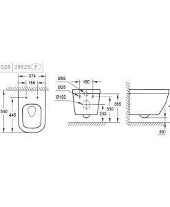 Конзолна тоалетна с капак Grohe Euro Ceramic 39328000