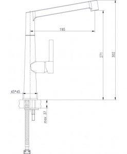 Кухненски смесител висок 7164045