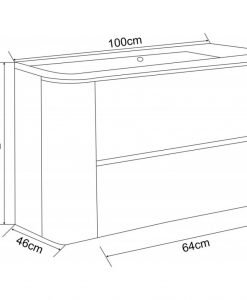PVC шкаф за баня 10046