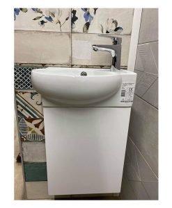 Компактен PVC шкаф с мивка Никита 45