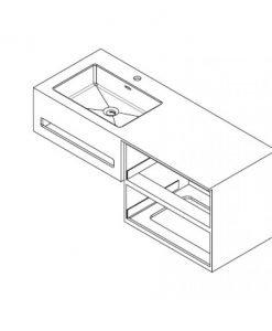 Мебел за баня ICP 10083R
