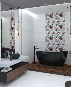 Плочки за баня CLASSIC CARRARA FLOWERS 60*120 ANKA SERAMIK
