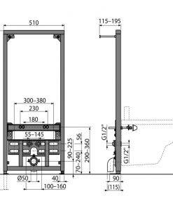 Структура за вграждане на биде ALCAPLAST А105/1120