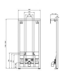 Структура за вграждане на биде VIDIMA W589667