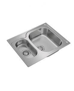 Иноксова мивка за вграждане, гладка UNIVERSE 60 T-XP 1½B