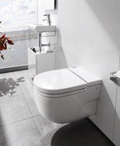 Окачена тоалетна Meridian IN-TANK с вградено казанче и капак  A893301000