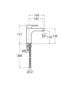 Смесител за умивалник Cold Start и дълга ръкохватка XL L20 ROCA A5A3B09C00