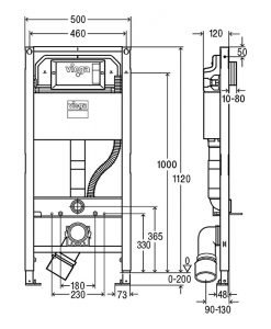 Структура за вграждане VIEGA PREVISTA DRY 771980