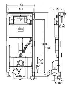 Структура за вграждане VIEGA PREVISTA DRY 771997
