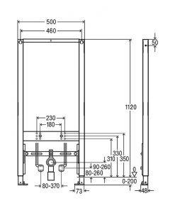 Структура за вграждане за биде VIEGA PREVISTA DRY 776442