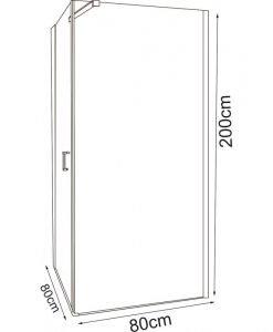 Душ кабина ICL157 80 L NEW 80*80 лява врата