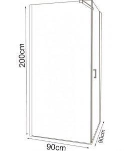 Душ кабина ICL157 90 R NEW 90*90 дясна врата