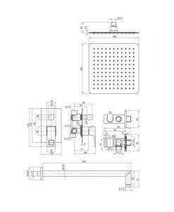 Душ система за вграждане Deante Anemon NAC09MP