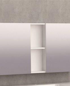 Горен огледален PVC шкаф за баня 6014-100 100см