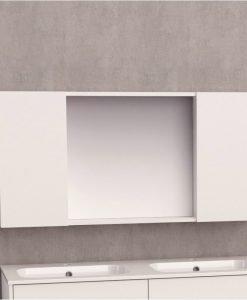Горен огледален PVC шкаф за баня 6014-120 120см