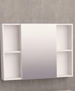 Горен огледален PVC шкаф за баня 6014-80 80см