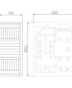 Хидромасажна вана за открито пространство SPA 2090 АЛОРА 200*160