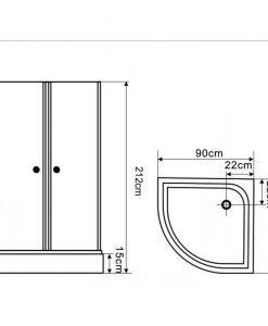 Хидромсажна душ кабина 701-1 100*100