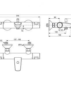 Комплект смесители 3 в 1- Cerafine O и Ceratherm T25 VIDIMA BC984AA