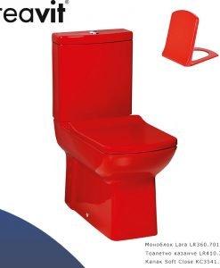 Моноблок CREAVIT LARA червен цвят LR360.70100