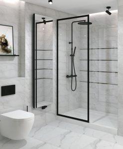 Плочки за баня ECOCERAMIC модел ESSENTIAL WHITE 25*70 ГЛАНЦ