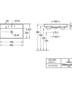 Порцеланов умивалник VILLEROY & BOCH COLLARO 4A338001