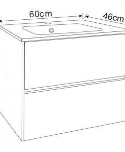 PVC шкаф за баня 5955 60*46