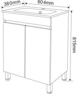 PVC шкаф за баня 5981 60.4*38