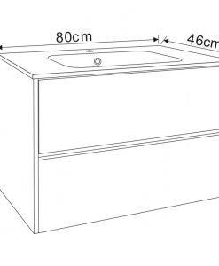 PVC шкаф за баня 7955 80*46