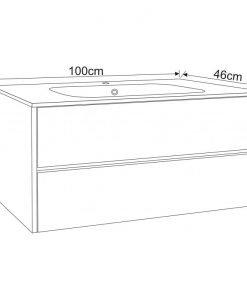 PVC шкаф за баня 9955 100*46