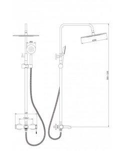 Телескопична душ система МАТИС 6413