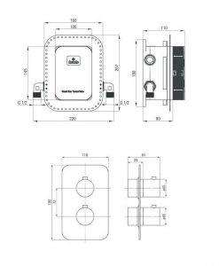 Термостатна душ система Deante Box Ovale черен мат BXYZNEBT