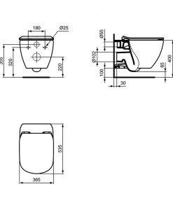 TESI AquaBlade® WC КОМПЛЕКТ ЗА ВГРАЖДАНЕ R0204+T0079+T352701