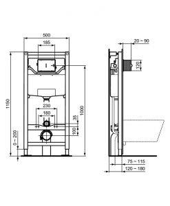 TESI AquaBlade® WC КОМПЛЕКТ ЗА ВГРАЖДАНЕ R0204+T0079+T352801