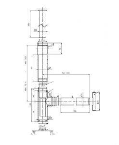 Бутилков сифон за мивка ROCA TOTEM A5064031CN черен цвят