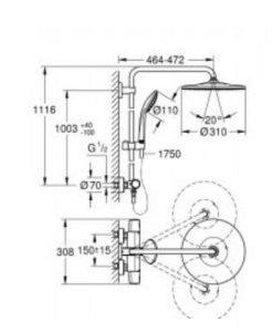 Душ система с термостат GROHE EUPHORIA SYSTEM 310 26075001