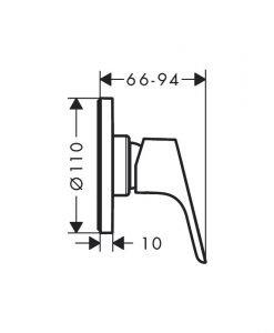 HANSGROHE FOCUS Смесител за душ за вграждане 31961000