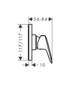 HANSGROHE LOGIS Смесител за душ за вграждане 13620180