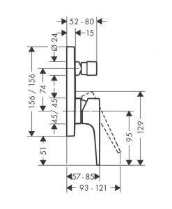 HANSGROHE RAINDANCE Комплект система за вграждане